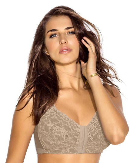 #011848 Leonisa Fabulous Lace Wireless Minimizer Bra