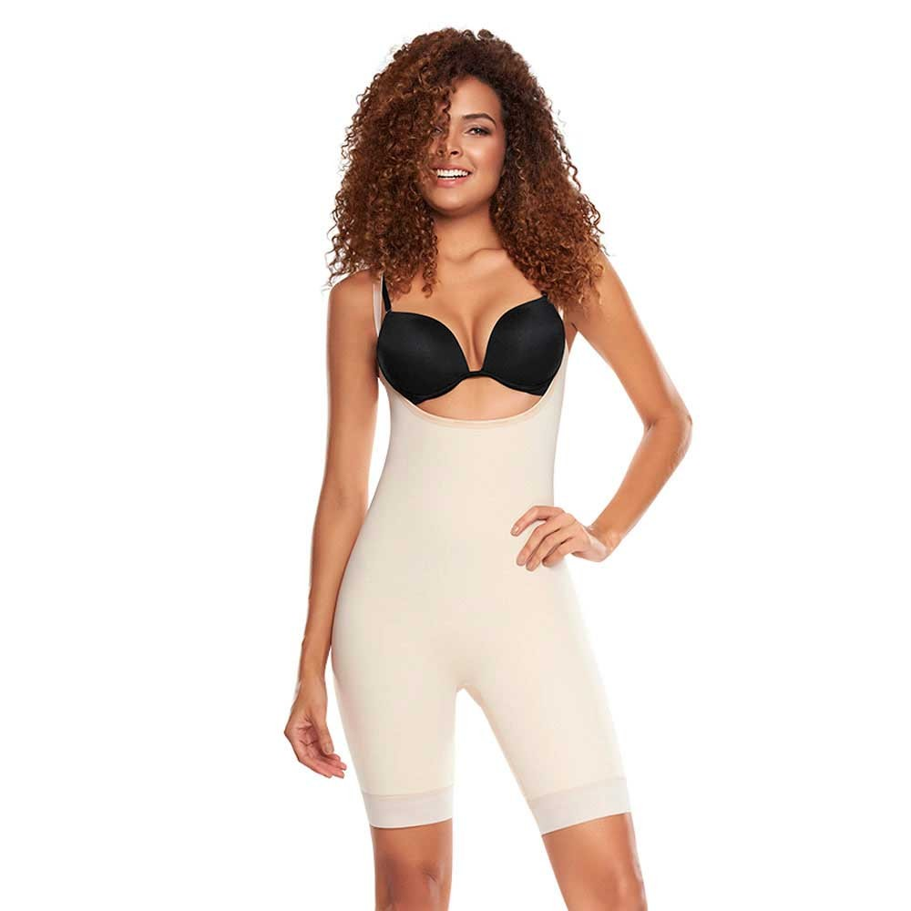 33c15cf7139a5 1205 Slimmer   Firm Control Open Bust Bodysuit with removable Pads
