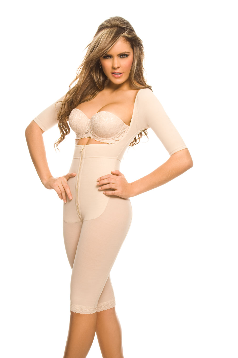 1025 Ann Chery Seduccion Long Sleeve- Not Bra Powernet Body Garment